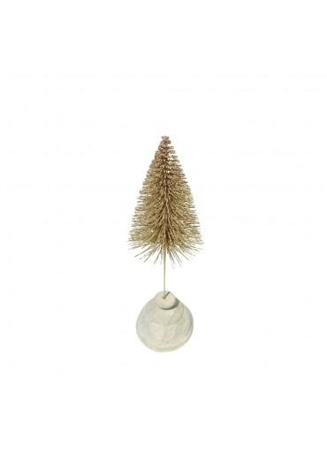 """Tannenbaum """"Glitter"""" champagner-gold klein H 25 cm"""