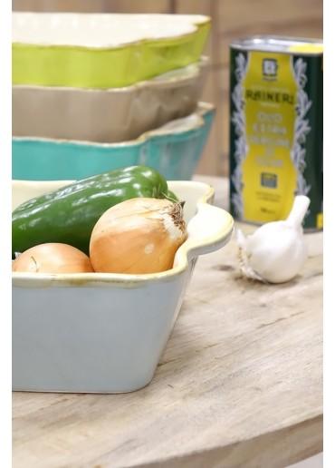 Grün & Form Auflaufform M rechteckig aqua