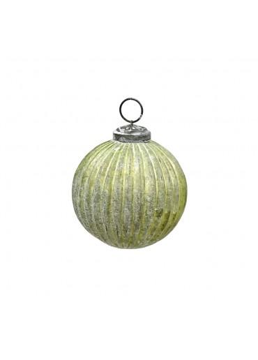 Grün & Form Christbaumkugel Rille grün