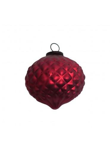 Grün & Form Glas Zwiebel groß rot Ø9,5 cm