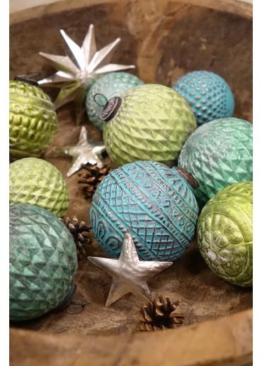 "Grün & Form Weihnachtskugel ""Ornament"" hellgrün"