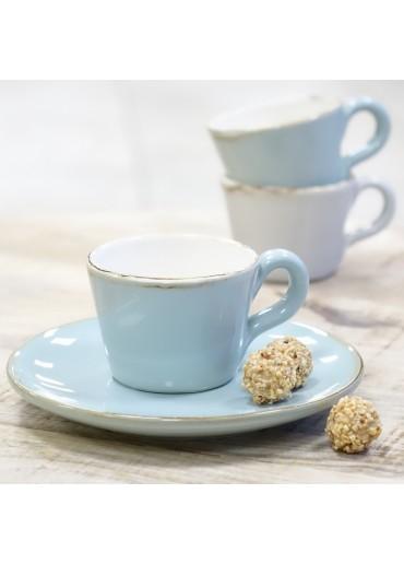 "Grün & Form ""Bianco"" Espresso Tasse aqua"