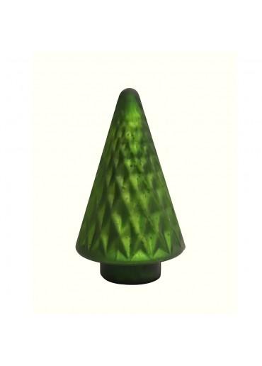 Grün & Form Glasbaum dunkelgrün groß H24 cm