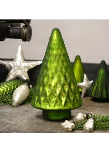 Grün & Form Glasbaum hellgrün groß H24 cm