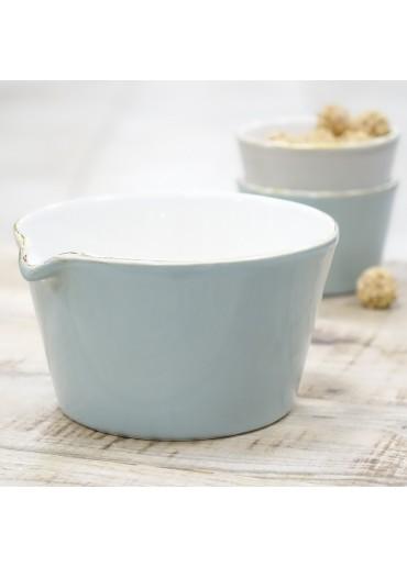 "Grün & Form ""Bianco"" Schale mit Ausguss aqua"