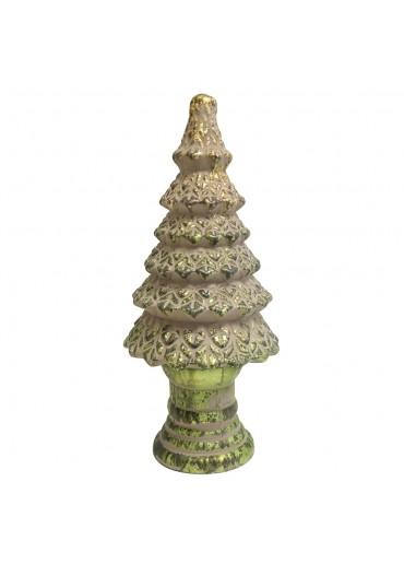 Grün & Form Glas Tannenbaum mit Fuß H39 cm