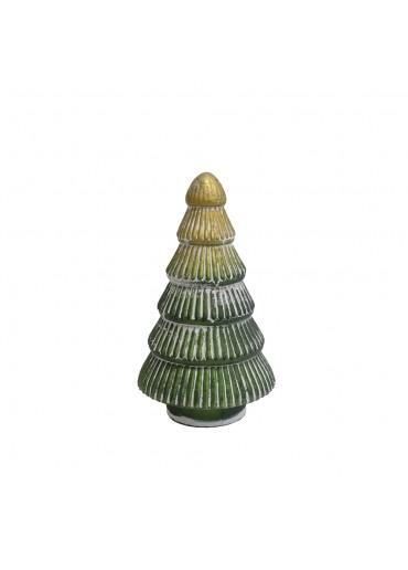 Grün & Form Glas Tannenbaum Rille groß H25 cm