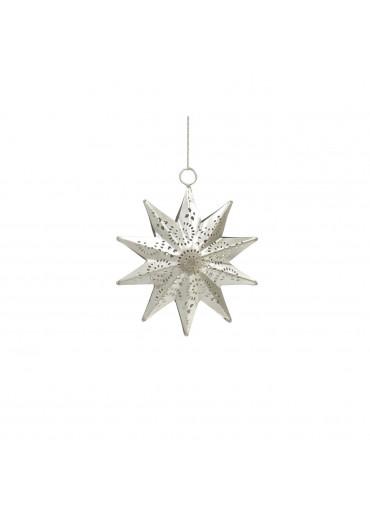 Grün und Form Metall Stern silbern vernickelt