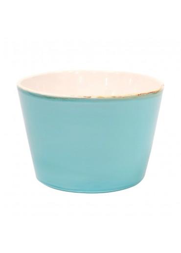"""Grün und Form Keramik Salatschale """"Bianco"""" hellblau"""