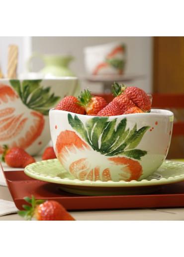 """Grün & Form Keramik Schale """"Erdbeere"""" mittel Ø16 cm"""