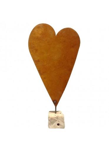 Rostige Herz Tafel XL auf Naturstein | blanko