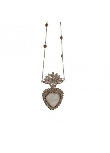 Herz Amulett Metall antik