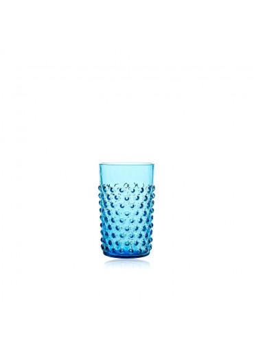 "Trinkglas ""Hobnail"" Azurblau"