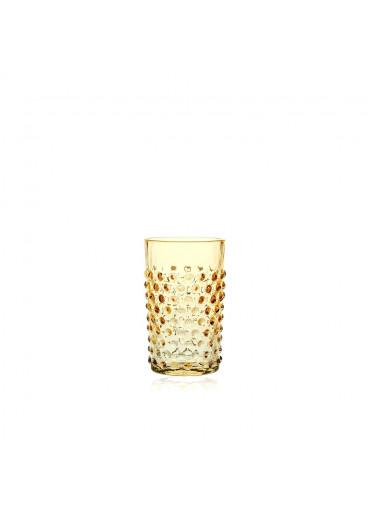 Trinkglas mit Noppen Mandarin orange