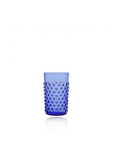 Hobnail Trinkglas mit Noppen royalblau