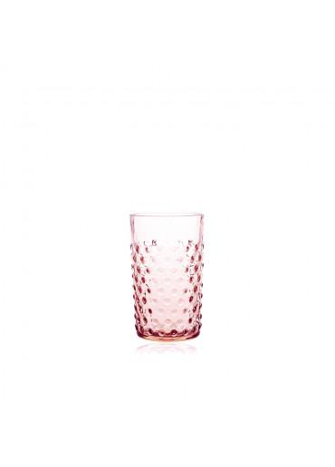 Hobnail Trinkglas rosa