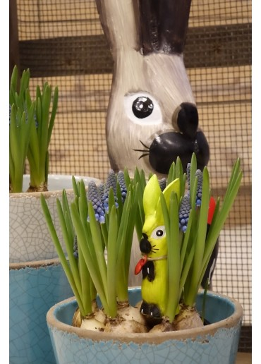 Holz Hase mit langen Ohren apfelgrün XS H10 cm