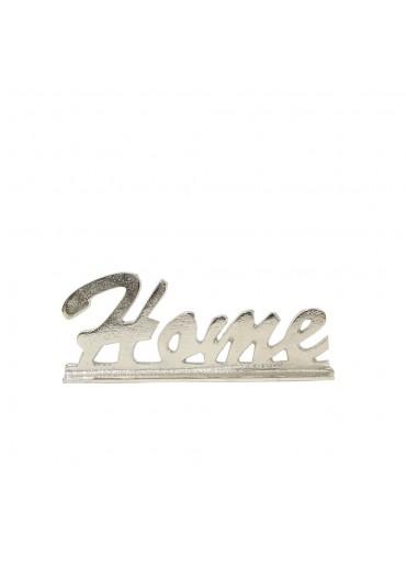 """""""Home"""" Schriftzug Aluminium silbern vernickelt"""