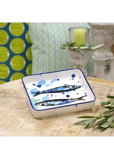 "Vista Portuguese Keramik Platte rechteckig ""Sardine"" small"