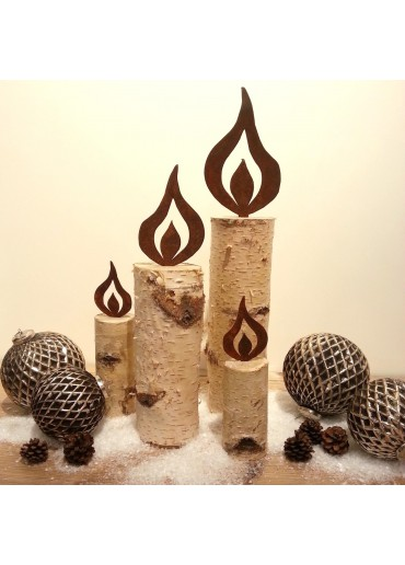 Rostige Kerzen Flamme H15