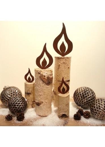 Rostige Kerzen Flamme H20