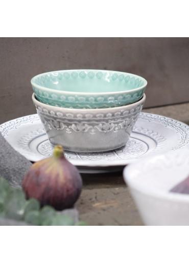 Portugiesische Keramik Schale Rua Nova grau