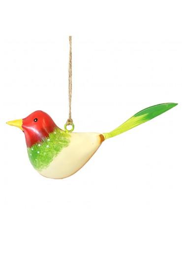 Metall Vogel bunt zum Hängen klein (103370)