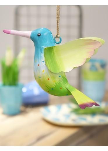 Metall Kolibri groß blau-hellgrün