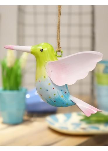 Metall Kolibri groß hellgrün-hellblau