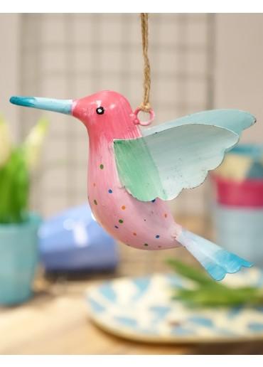 Bemalter Metall Kolibri zum Hängen