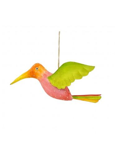 Metall Kolibri rosa zum Hängen