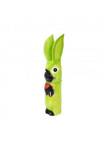 Holz Hase mit langen Ohren apfelgrün M H34 cm