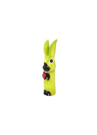 Holz Hase mit langen Ohren apfelgrün S H20 cm