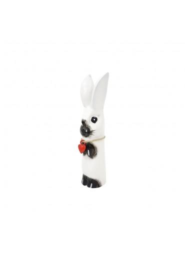 Holz Hase mit langen Ohren weiß S H20 cm