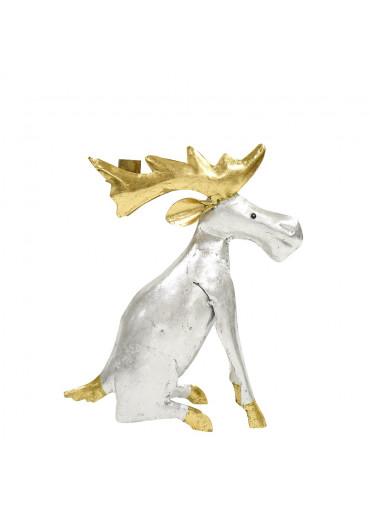 Metall Elch silber gold