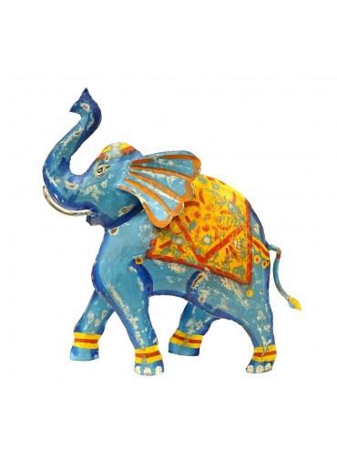 Metall Elefant L blau Shabby Chic H 43 cm