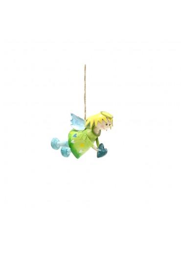 """Engel Lena """"fliegend"""" mini hellgrün mit Glitzer zum Hängen"""