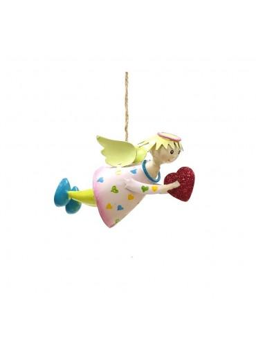 """Engel Lena """"fliegend"""" klein rosa mit Glitzer zum Hängen"""