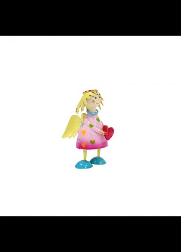 Metall Engel Lena mini rosa zum Stellen
