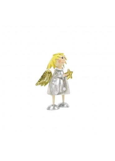 Metall Engel Lena silber gold mini