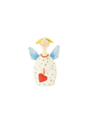 Engel Lotta S creme-weiß mit Sternchen