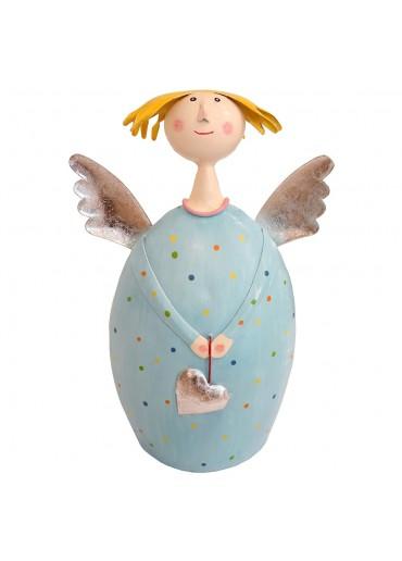 Engel Lotta XL zum Stellen hellblau mit silber