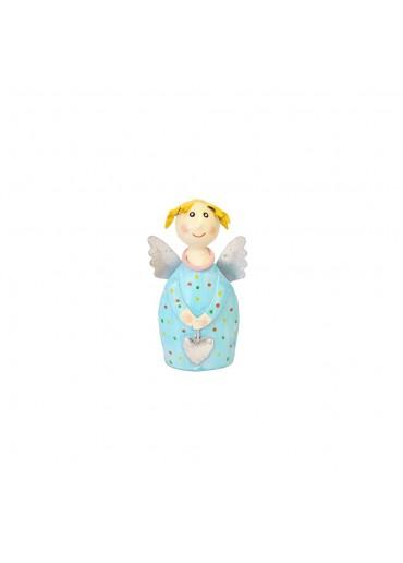 Engel Lotta mini zum Stellen hellblau mit silber