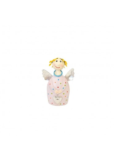 Engel Lotta mini zum Stellen zart-rosa mit silber