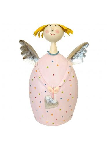 Engel Lotta XL zart-rosa mit silber
