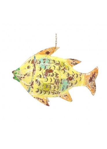 Metall Fisch M gelb zum Hängen und Stellen