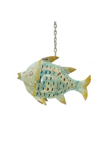 Metall Fisch zum Hängen S aqua