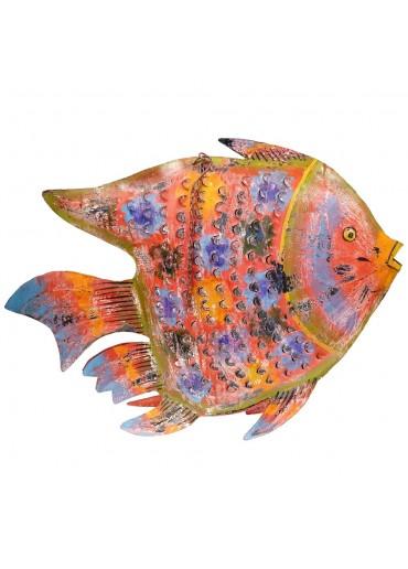 Fisch Metall XXXL rot zum Hängen und Stellen