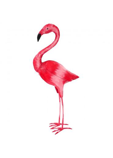Metall Flamingo bemalt XXL H 112 cm