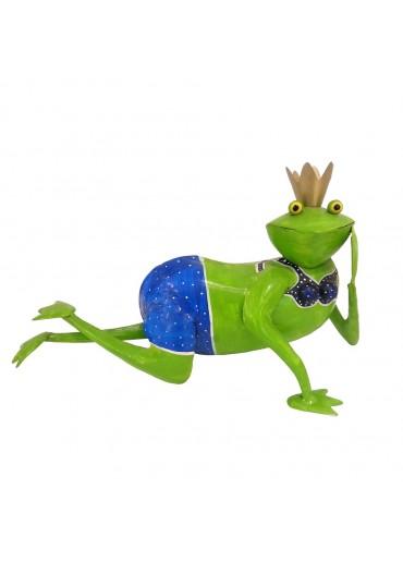 """Metall Frosch """"Helga"""" liegend"""
